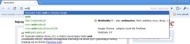 Pasek adresu w Google Chrome